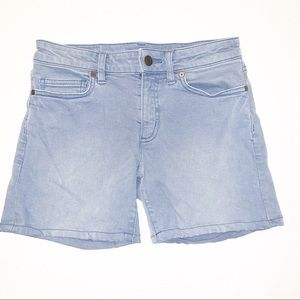 Lands' End Gray Mid Rise Roll Cuff Jean Shorts 2